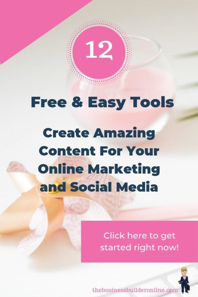 """Image of items on a desk with text overlay """"How to create amazing content for your online marketing and social media"""