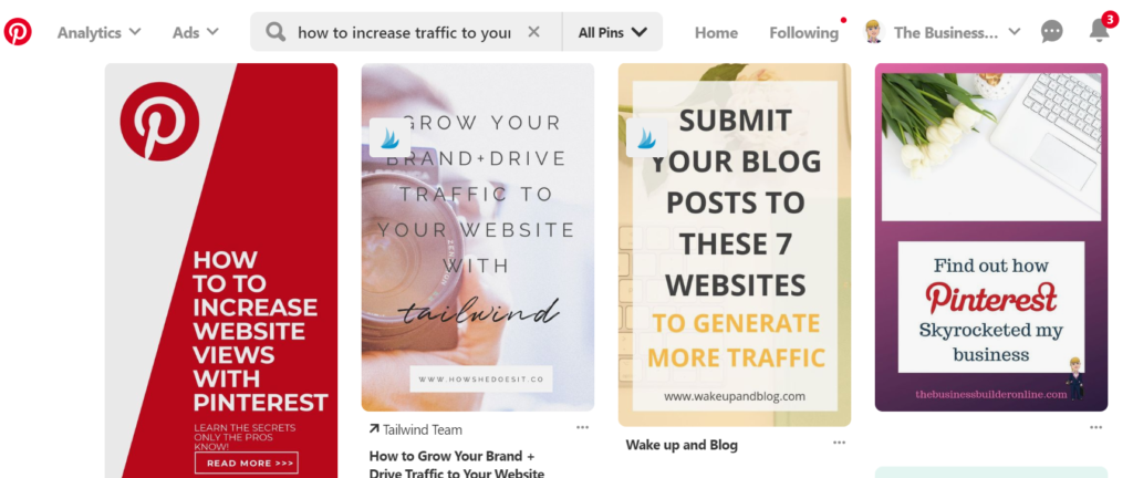 image of one of my pins showing how I use Pinterest to increase traffic to my website