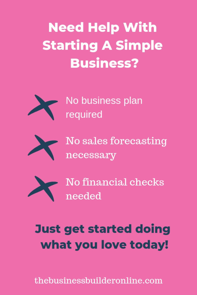 Need help with starting a simple business?